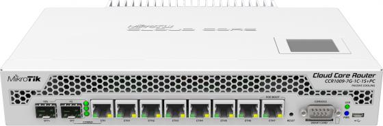 Маршрутизатор Mikrotik CCR1009-7G-1C-1S+PC маршрутизатор 1000m 7port ccr1009 7g 1c 1s pc mikrotik