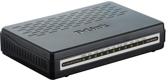 Маршрутизатор D-Link DVG-N5402SP/2S1U/C1B 802.11bgn 300Mbps 2.4 ГГц 4xLAN USB черный маршрутизатор d link dhp 1565 a1a 802 11bgn 300mbps 2 4 ггц 4xlan usb usb черный