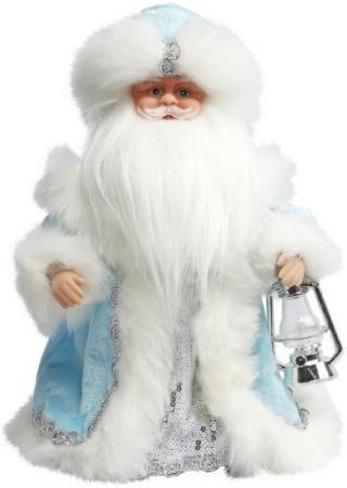 Дед Мороз Новогодняя сказка в голубом 30 см, мех., муз., песня В лесу родилась елочка ёлочное украшение новогодняя сказка дед мороз в санях 10 4 см пластик