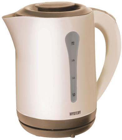 Чайник MYSTERY MEK-1638 1800 Вт бежевый коричневый 2.5 л пластик цена