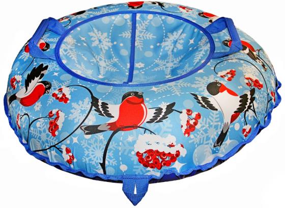 Тюбинг Санки Снегокаты RT Снегири ПВХ разноцветный синий рисунок тюбинг санки снегокаты rt леденцы разноцветный до 120 кг пвх