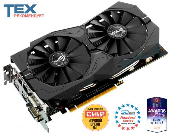 Видеокарта 4096Mb ASUS GeForce GTX1050 Ti PCI-E 128bit GDDR5 DVI HDMI DP HDCP STRIX-GTX1050TI-4G-GAMING Retail видеокарта asus 4096mb rx 560 strix rx560 o4g evo gaming dvi dp hdmi ret