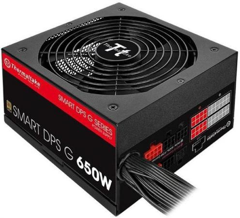 Блок питания ATX 650 Вт Thermaltake Smart DPS PS-SPG-0650DPCGEU-G блок питания atx 750 вт thermaltake tr 750pcbeu