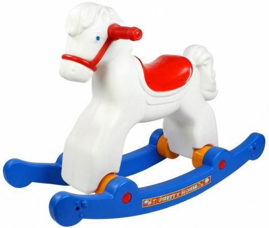 Каталка-качалка R-Toys Лошадка-трансформер пластик от 8 месяцев на колесах белый ОР146в2 каталка качалка r toys лошадка трансформер пластик от 1 года на колесах разноцветный