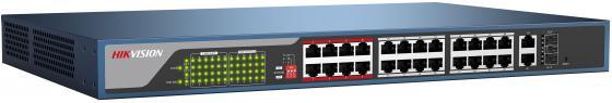 Коммутатор Hikvision DS-3E1326P-E 24-ports 10/100Mbps коммутатор hikvision ds 3e1326p e 24 ports 10 100mbps