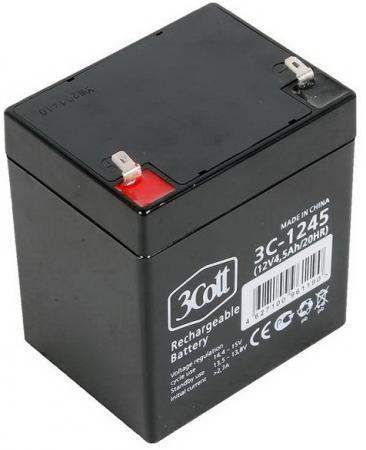 Батарея 3Cott 3C-1245-5S 12V 4.5Ah батарея 3cott 12v 4 5ah rt1245