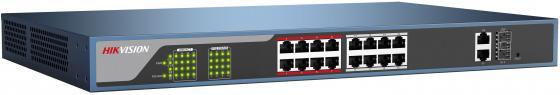 Коммутатор Hikvision DS-3E1318P-E 16-ports 10/100Mbps