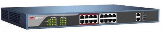 Коммутатор Hikvision DS-3E0318P-E 16-ports 10/100Mbps коммутатор zyxel gs1100 16 gs1100 16 eu0101f