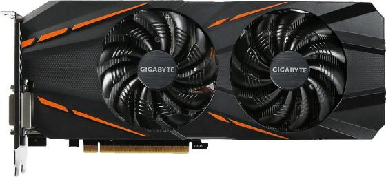 Видеокарта 6144Mb Gigabyte GeForce GTX1060 PCI-E 192bit GDDR5 DVI HDMI DP HDCP GV-N1060D5-6GD Retail видеокарта asus geforce gtx 1060 turbo 1506mhz pci e 3 0 6144mb 8008mhz 192 bit dvi 2xhdmi hdcp turbo gtx1060 6g