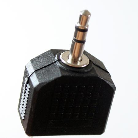 Переходник Vcom 3.5 Jack (M) - 2x3.5 Jack (F) VAD7847 аксессуар vcom 3 5 jack m 2x3 5 jack f vad7847