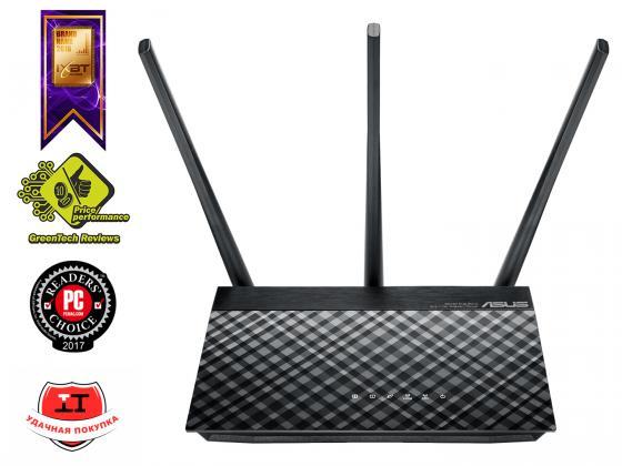 Беспроводной маршрутизатор ASUS RT-AC53 802.11aс 750Mbps 5 ГГц 2.4 ГГц 2xLAN черный маршрутизатор asus rt n56u 802 11n 300mbps 5 ггц 4xlan usb usb черный