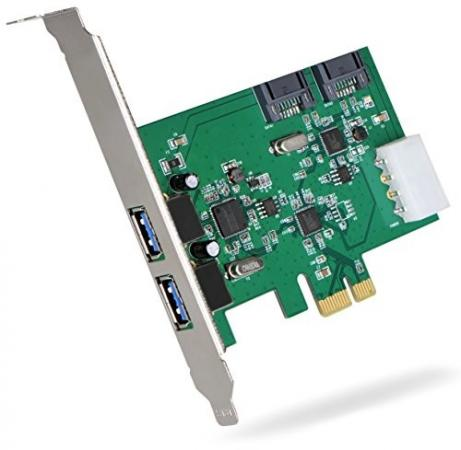 Фото Контроллер PCI-E Orient VA-3U2SA2PE USB3.0 pci e to