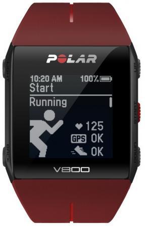 Смарт-часы Polar V800 HR черно-красный 90060774 polar a300 whi hr