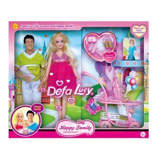 где купить Набор кукол Defa Счастливая семья, с аксесс., кор 8088 дешево
