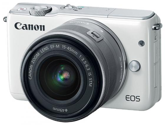 Фотоаппарат Canon EOS M10 15-45IS STM белый 5 0 touch screen wince 6 0 mtk3351 gps navigator w bluetooth fm 4gb tf card w europe map