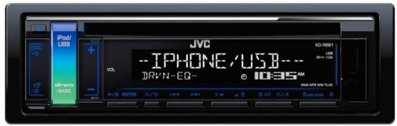 Автомагнитола JVC KD-R681 USB MP3 CD FM 1DIN 4x50Вт черный автомагнитола kenwood kdc 210ui usb mp3 cd fm 1din 4х50вт черный