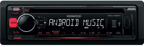 Автомагнитола Kenwood KDC-151RY USB MP3 CD FM 1DIN 4х50Вт черный автомагнитола kenwood kdc 210ui usb mp3 cd fm 1din 4х50вт черный