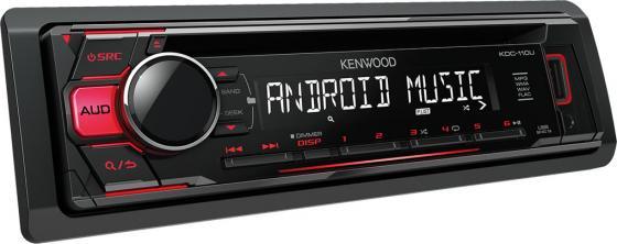 Автомагнитола Kenwood KDC-110UR USB MP3 CD FM 1DIN 4х50Вт черный автомагнитола kenwood kdc 110ur