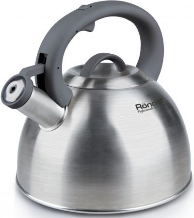 Чайник Rondell RDS-227 серебристый 3 л нержавеющая сталь чайник kitchenaid kten20sbob чёрный 1 9 л нержавеющая сталь