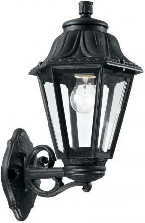 Уличный настенный светильник Ideal Lux Anna AP1 Big Nero ideal lux уличный настенный светильник ideal lux twin ap1 nero
