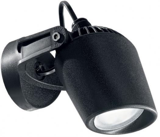 Уличный настенный светодиодный светильник Ideal Lux Minitommy AP1 Nero цена