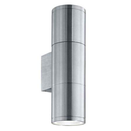 Уличный настенный светильник Ideal Lux Gun AP2 Small Alluminio встраиваемый спот точечный светильник ideal lux swing fi1 alluminio 083162