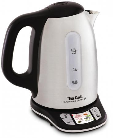 Чайник Tefal Express Control KI240D30 2400 Вт белый чёрный 1.7 л металл/пластик tefal ki230d30 express электрический чайник