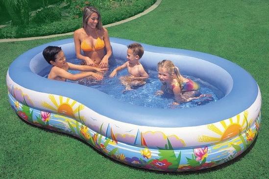 где купить Надувной бассейн Intex Райская лагуна 262х160х46 см по лучшей цене
