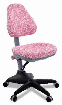 Кресло детское Бюрократ KD-2/PK/HEARTS-PK розовый сердца все цены