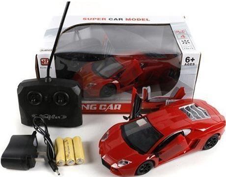 Машинка на радиоуправлении Shantou Gepai 4 канала, откр.двери красный от 6 лет пластик  894 машинка на радиоуправлении shantou gepai drift car ассортимент от 3 лет пластик 1 20 4 канала 2 вида 8010 1 8010 2