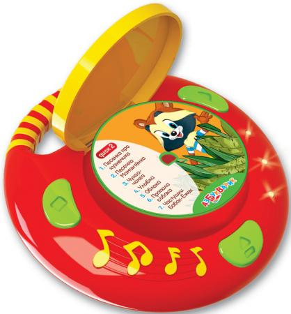 Интерактивная игрушка Азбукварик Песенки из мультиков от 2 лет разноцветный 085-1(111-3) обучающие азбукварик интерактивная игрушка азбукварик новогодние игрушки дед мороз