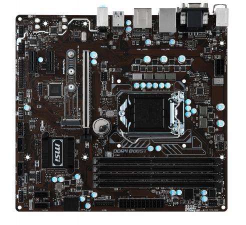 Материнская плата MSI B250M PRO-VDH Socket 1151 B250 4xDDR4 1xPCI-E 16x 2xPCI-E 1x 6xSATAIII mATX Retail ноутбук msi gs43vr 7re 094ru phantom pro 9s7 14a332 094
