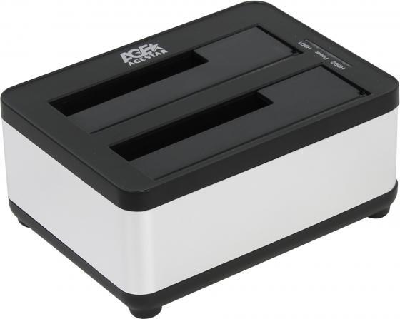Док станция для HDD 2.5/3.5 SATA AgeStar 3UBT8 USB3.0 серебристый док станция для hdd 2 5 3 5 sata agestar 3ubt8 silver clone usb3 0 пластик алюминий серебристый