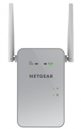 Ретранслятор NetGear EX6150-100PES 802.11aс 1200Mbps 5 ГГц 2.4 ГГц 1xLAN серый ретранслятор netgear ex6400 100pes 802 11n 1900mbps 2 4 ггц 5 ггц белый
