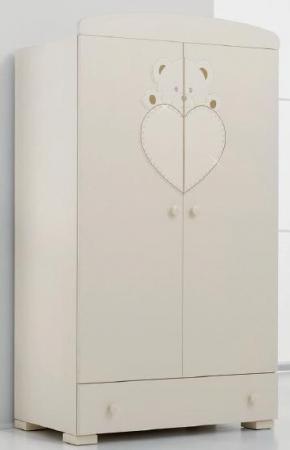 Шкаф двустворчатый Erbesi Cucciolo (слоновая кость) erbesi шкаф двустворчатый erbesi cucciolo