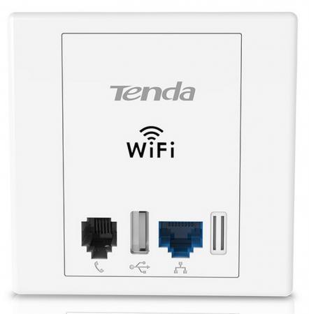 Точка доступа Tenda W6 802.11bgn 300Mbps 2.4 ГГц 1xLAN серебристый английская версия tenda n301 300mbps wifi router