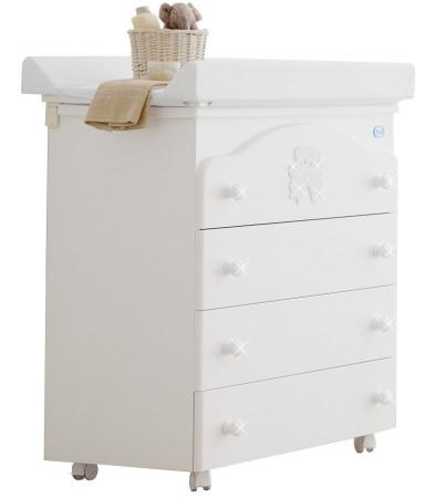 Комод пеленальный с ванночкой Pali Principe (белый) кроватка качалка pali principe prestige магнолия