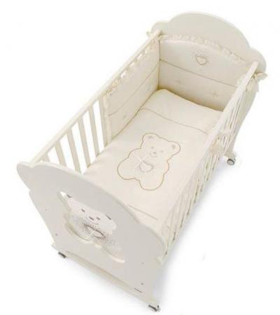 Комплект постельного белья 3 предмета Erbesi Tiffany (слоновая кость)