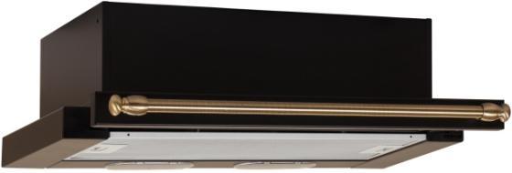 Вытяжка встраиваемая Elikor Интегра 60П-400-В2Л антрацит рейлинг бронза вытяжка elikor интегра 60 крем рейлинг бронза