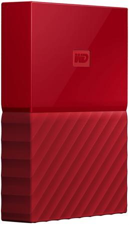 """Внешний жесткий диск 2.5"""" USB3.0 1 Tb Western Digital My Passport WDBBEX0010BRD-EEUE красный цена 2017"""