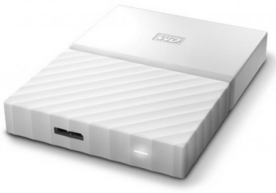 "Внешний жесткий диск 2.5"" USB3.0 1 Tb Western Digital My Passport WDBBEX0010BWT-EEUE белый western digital wdbu6y0015bbk 1 5tb"