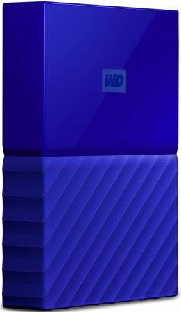 Внешний жесткий диск 2.5 USB3.0 1 Tb Western Digital My Passport WDBBEX0010BBL-EEUE синий