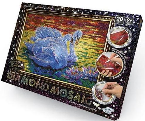 Набор для изготовления картин ДАНКО-ТОЙС Diamond Mosaic Лебеди DM-01-02 от 9 лет мозаика elada mosaic n54 песочный серый