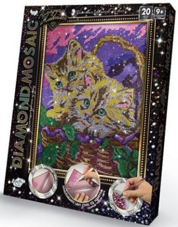 Набор креативного творчества ДАНКО-ТОЙС Diamond Mosaic Котята от 9 лет DM-01-10 машинки азбука тойс мотоциклист