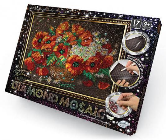 Набор креативного творчества ДАНКО-ТОЙС Diamond Mosaic - Цветы от 9 лет  DM-01-06 набор для творчества данко тойс my color clutch пони от 5 лет