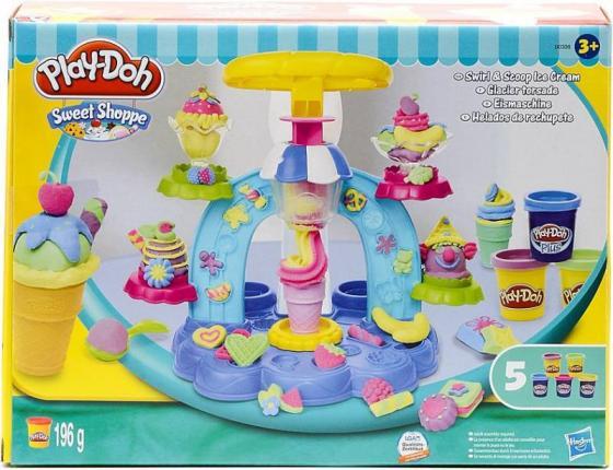 Масса для лепки HASBRO Play-Doh Фабрика Мороженого 5 цветов B0306 набор для лепки замок мороженого play doh