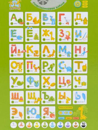 Обучающий плакат Жирафики Пластилиновая азбука 682004 обучающий плакат умка азбука фиксики