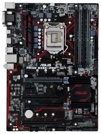 Материнская плата ASUS PRIME B250-PRO Socket 1151 B250 4xDDR4 2xPCI-E 16x 2xPCI 2xPCI-E 1x 6xSATAIII ATX Retail