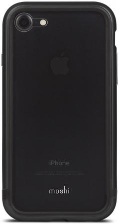 Чехол Moshi Luxe для iPhone 7. Материал пластик/алюминий. Цвет серый.