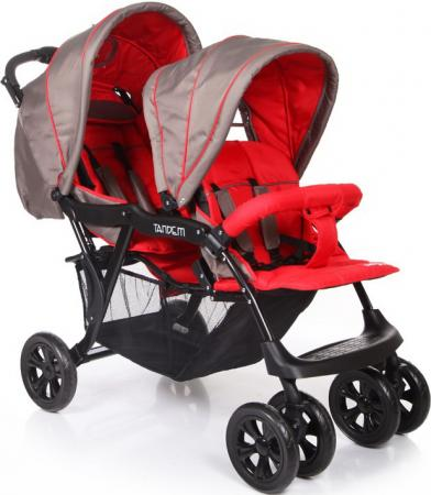 Коляска для двойни Baby Care Tandem (grey/red) автокресло baby care legion grey 1023 black